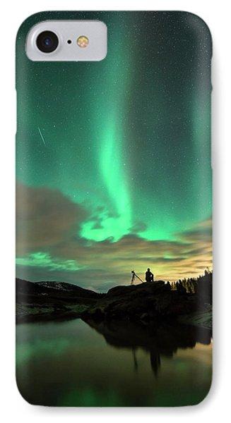 Aurora Borealis And Quadrantids IPhone Case