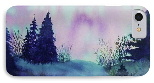 IPhone Case featuring the painting Aurora Borealis I by Ellen Levinson