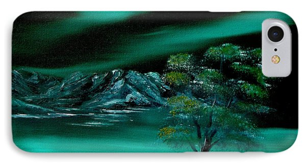 Aurora Borealis In Oils. Phone Case by Cynthia Adams