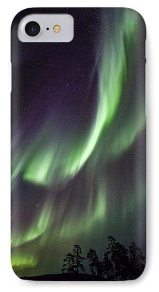Aurora Borealis Lake Inari Lapland IPhone Case by Heike Odermatt