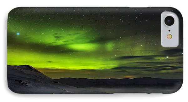 Aurora Borealis Or Northern Lights Seen IPhone Case by Panoramic Images