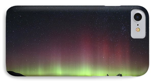 Aurora Borealis Over Glacier Np In Montana IPhone Case