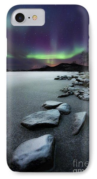 Aurora Borealis Over Sandvannet Lake IPhone Case by Arild Heitmann