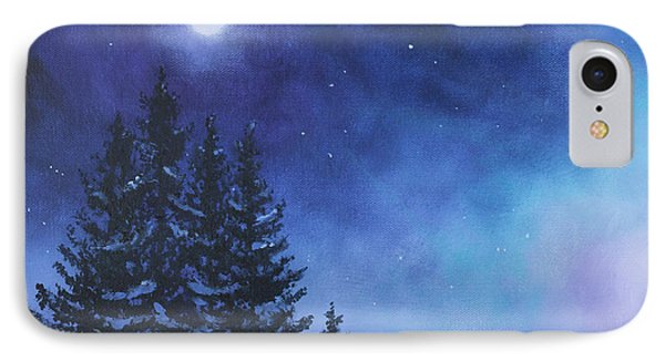 Aurora Borealis Winter IPhone Case by Cecilia Brendel