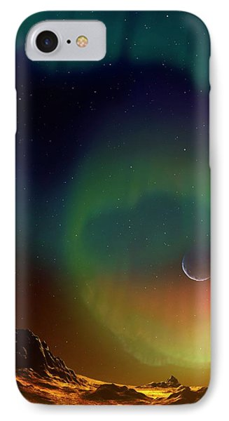 Aurora On Planet Kepler 438b IPhone Case by Mark Garlick