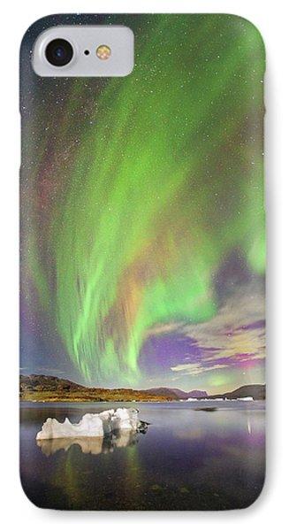 Aurora Over Iceberg Greenland IPhone Case by Juan Carlos Casado (starryearth.com)