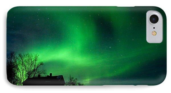 Aurora Over Lake Tornetrask Phone Case by Max Waugh