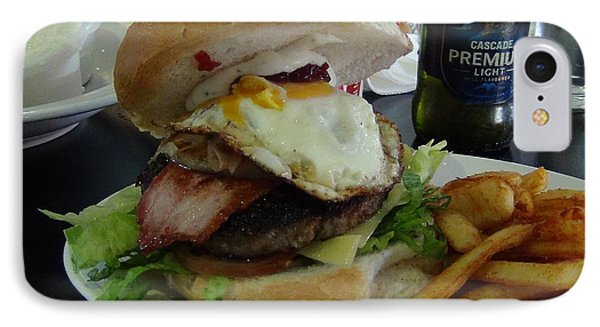 IPhone Case featuring the photograph Aussi Burger by Tony Mathews