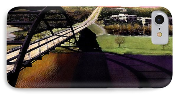Austin 360 Bridge IPhone Case by Marilyn Hunt