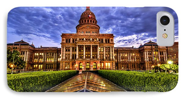 Austin Capitol At Sunset IPhone Case by John Maffei
