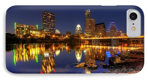 IPhone Case featuring the photograph Austin On The Rocks by Dave Files