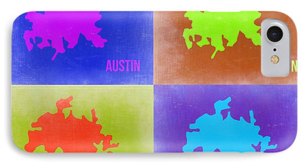 Austin iPhone 7 Case - Austin Pop Art Map 2 by Naxart Studio
