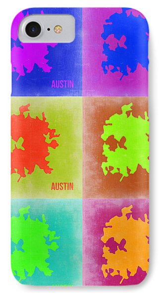 Austin iPhone 7 Case - Austin Pop Art Map 4 by Naxart Studio