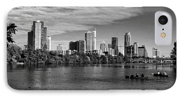 Austin Skyline Bw IPhone Case by Judy Vincent