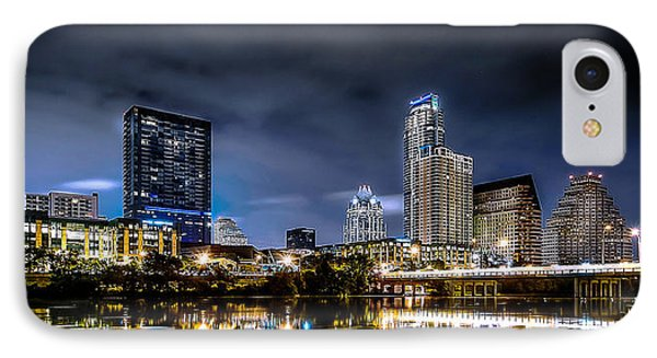 Austin Skyline Hdr IPhone Case by David Morefield