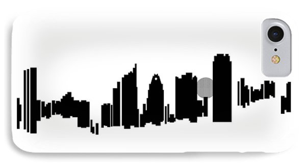IPhone Case featuring the painting Austin Skyline by Sheep McTavish