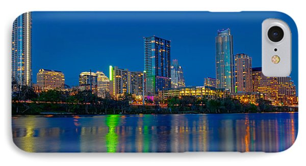 IPhone Case featuring the photograph Austin Skyline by Tim Stanley