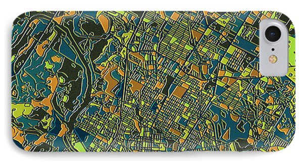 Austin Texas Map 2 IPhone Case