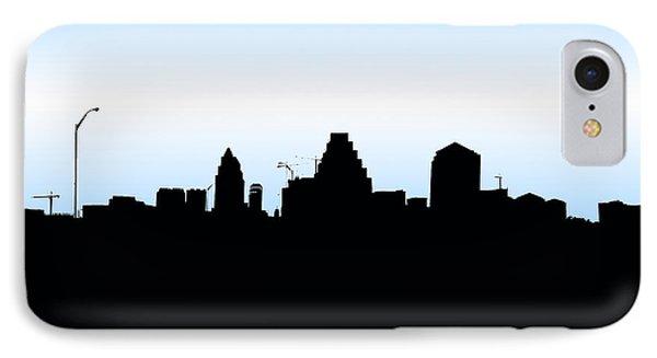 austin texas silhouette phone case by la rue rojo