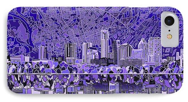 Austin Skyline iPhone 7 Case - Austin Texas Skyline 4 by Bekim Art