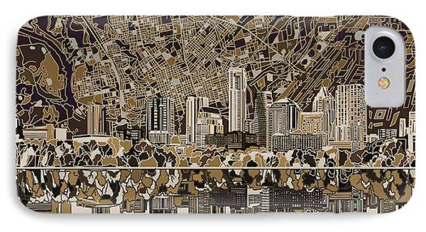 Austin Skyline iPhone 7 Case - Austin Texas Skyline 5 by Bekim Art