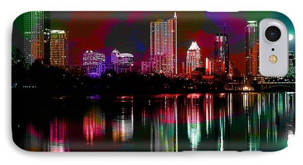 Austin Texas Skyline IPhone Case by Marvin Blaine