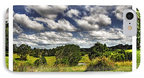 Australian Countryside - Floating Clouds Collage Phone Case by Kaye Menner
