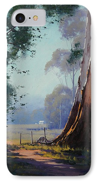 Australian Farm Painting IPhone Case by Graham Gercken
