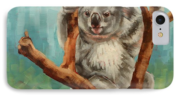 Australian Koala IPhone Case by Margaret Stockdale