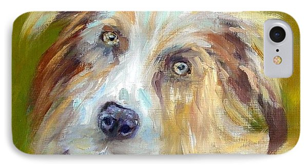 IPhone Case featuring the painting Australian Shepherd by Carol Berning