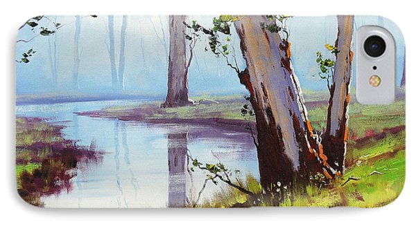Australian Trees Painting IPhone Case by Graham Gercken