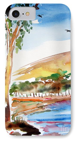 IPhone Case featuring the painting Australian Trees by Roberto Gagliardi
