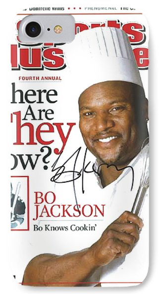 Autographed Sports Illustrated Cover By Bo Jackson Bo Knows Cookin' Phone Case by Desiderata Gallery