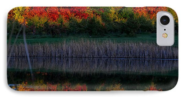 Autum At Orchard Pond Phone Case by Gene Sherrill