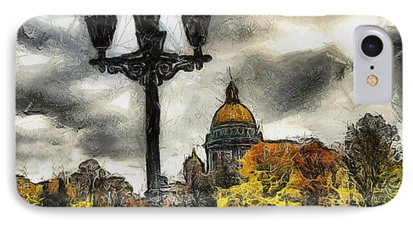 Autum Peterburg IPhone Case by Yury Bashkin