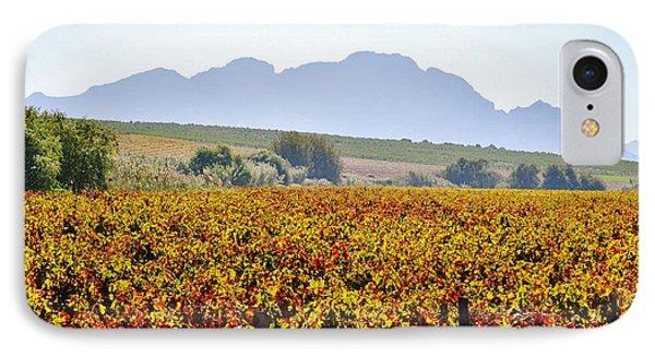 Autum Wine Field Phone Case by Werner Lehmann