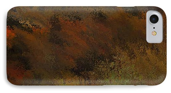 Autumn Abstract IPhone Case by Dan Sproul