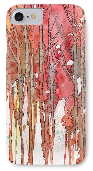 Autumn Abstract No.1 IPhone Case by Rebecca Davis