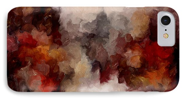 Autumn Abstract IPhone Case by Georgiana Romanovna