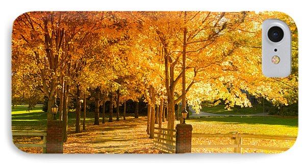 Autumn Alley Phone Case by Alexey Stiop