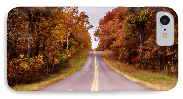 Autumn Along The Rural Road IPhone Case by Julie Clements