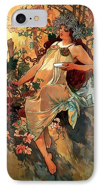 Autumn Phone Case by Alphonse Maria Mucha