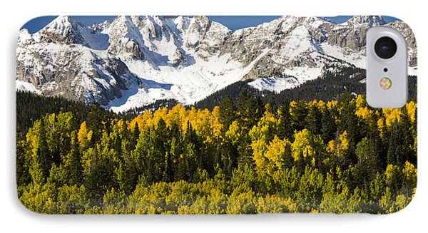 Autumn And Snow Covered Peaks North IPhone Case by Tom Vezo