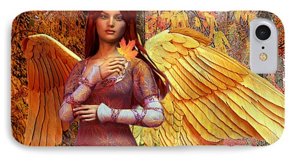 Autumn Angel 2 IPhone Case by Suzanne Silvir