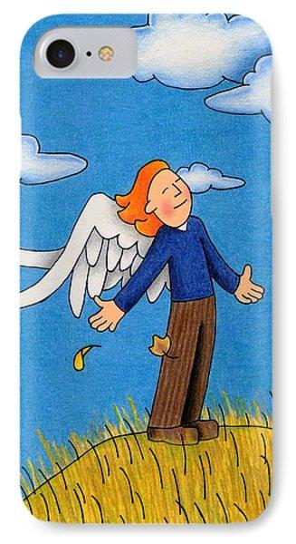 Autumn Angel Phone Case by Sarah Batalka