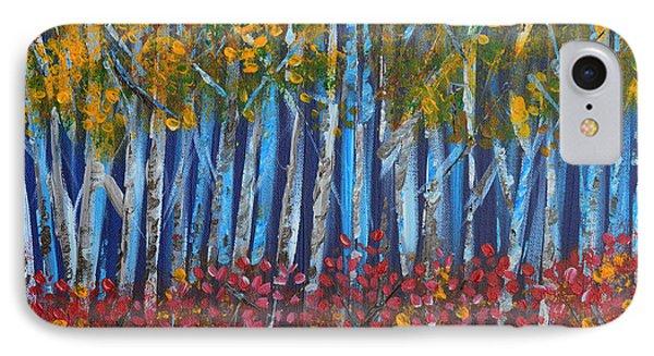 Autumn Aspens Phone Case by Donna Blackhall