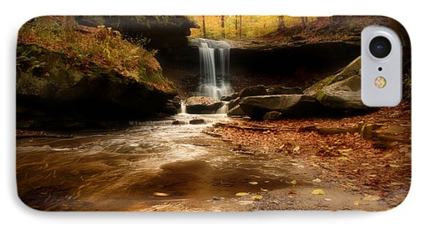 Autumn At Blue Hen Falls IPhone Case by Rob Blair
