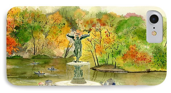 Autumn At Central Park Ny IPhone Case by Melly Terpening