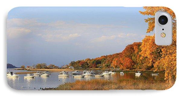 Autumn At Cold Spring Harbor IPhone Case by Dora Sofia Caputo Photographic Art and Design