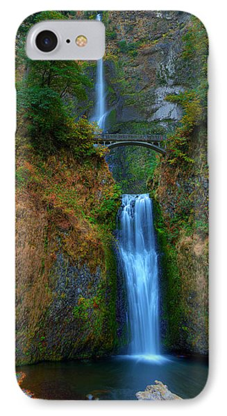 Autumn At Multnomah Falls IPhone Case